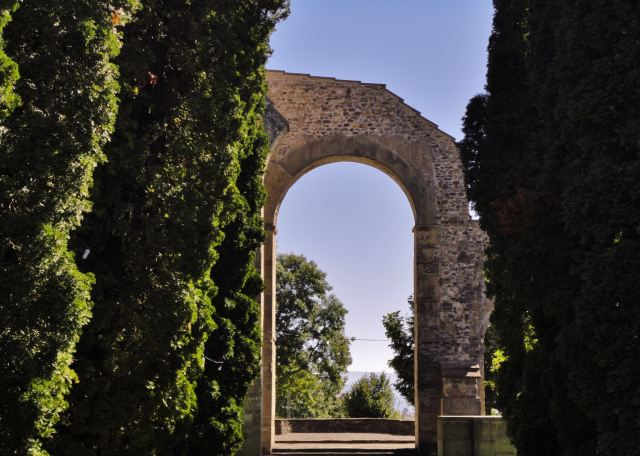 View through an Arch of Abbey Rüeggisberg