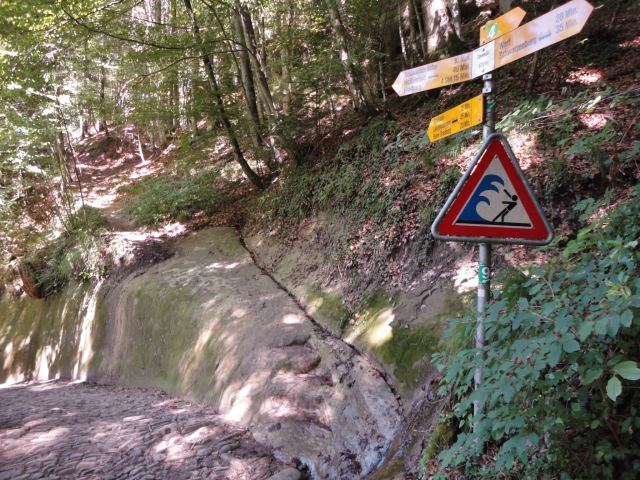 Warning sign after Schwarzenburg