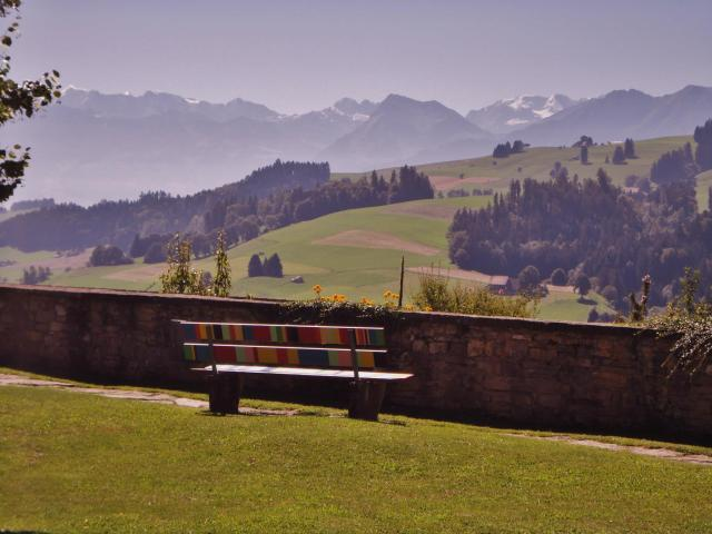 Bench at the Abbey of Rüeggisberg